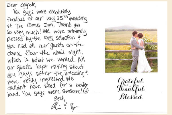A Love Note To Keynote Wedding Band