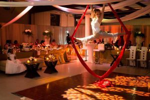 Aerialist Wedding